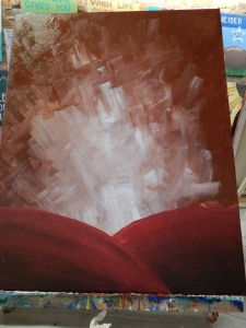 We started with the Burnt Sienna and moved to the reddish maroon hills.
