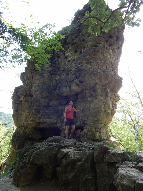 Chimney Rock hike in Whitewater State Park.