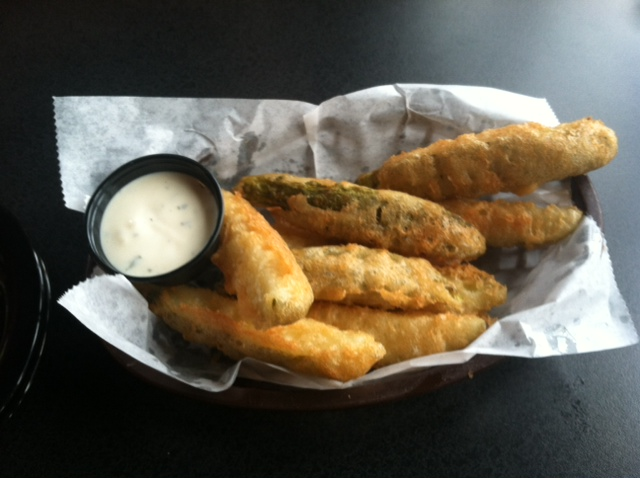 Fried pickles from the pickle factory.