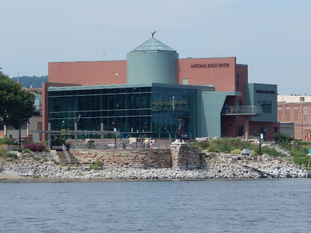 We passed by the National Eagle Center in Wabasha.