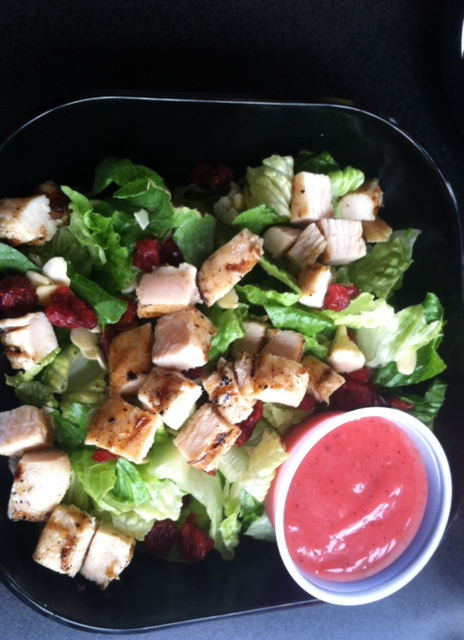A tasty Craisin and chicken salad.