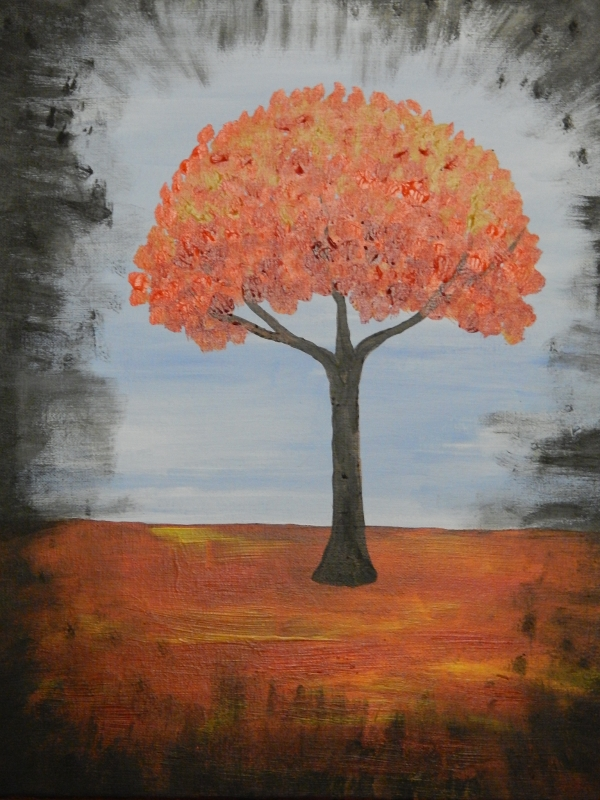 Wine & Canvas Rustic Tree