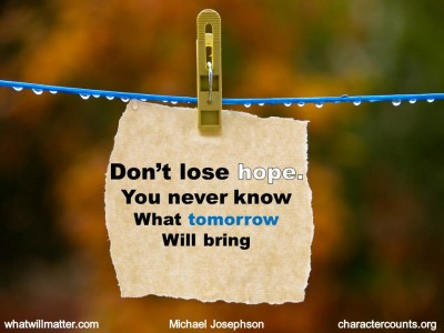 don't lose hope haiku